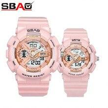 SBAO Brand Couple Sports Watches Fashion pink Waterproof Spo