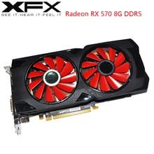 XFX AMD Radeon RX 570 8GB grafik kartları GPU RX570 8GB DDR5 256Bit PC ekran kartları masaüstü bilgisayar oyun düşük PUBG Video kartı