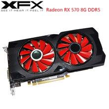 Xfx amd radeon rx 570 8 ギガバイトのグラフィックカード gpu RX570 8 ギガバイト DDR5 256Bit pc ビデオカードデスクトップコンピュータゲーム ow pubg 使用ビデオカード