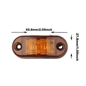 Image 5 - 10 PC 24/12 V LED Side MARKER ไฟกระพริบสำหรับรถบรรทุกรถพ่วง Piranha Caravan Side Clearance MARKER LIGHT amber สีแดงสีขาว