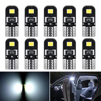 10 шт. T10 W5W светодиодный Canbus автомобильный купольный светильник, лампа для чтения s для Ford Focus 2 3 Fiesta MK2 MK3 Mondeo MK4 Fusion Ranger