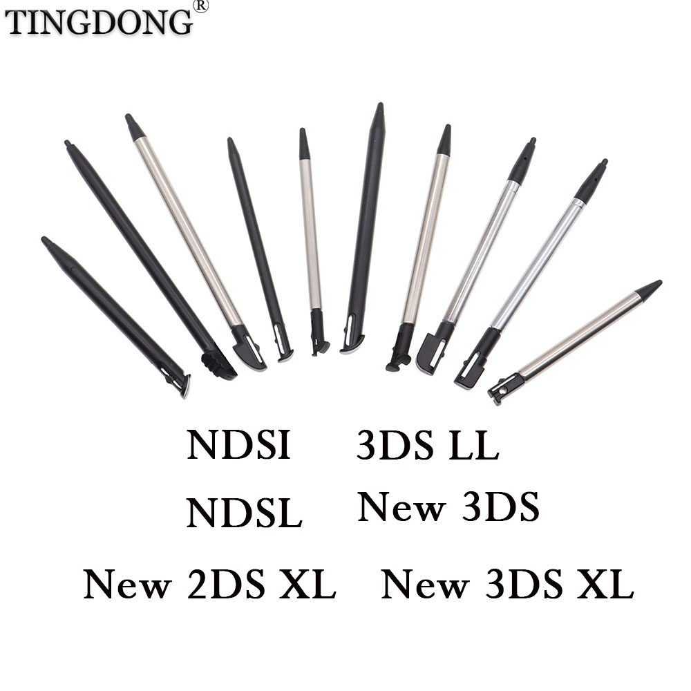 Metal Telescopic Stylus Plastic Stylus Touch Screen Pen for Nintendo 2DS 3DS New 2DS LL XL New 3DS XL LL For NDSL NDSi