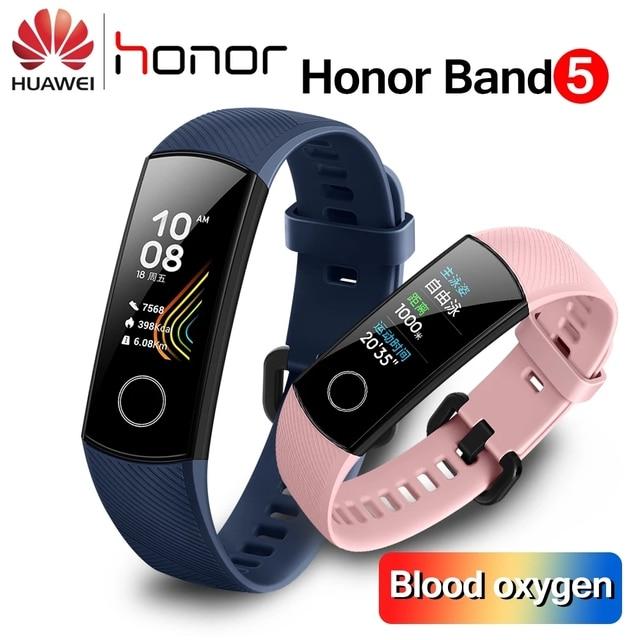 Original huawei honor band 5 4 inteligente pulseira de oxigênio no sangue 0.95 detect tela sensível ao toque detectar nadar postura freqüência cardíaca sono snapbracelet