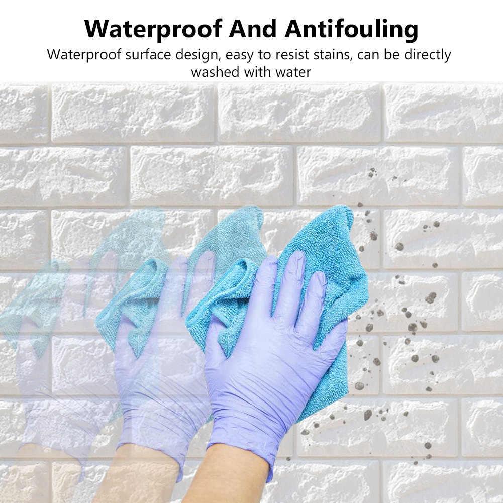 3D Brick Wall Sticker Decal Self-adhesive Wallpaper Soft PVC Foam anti-collision