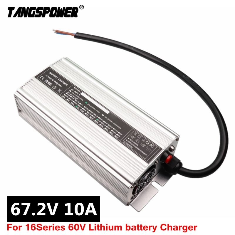 672W 67.2V 10A Charger 60V Li-ion Battery Smart Charger Used for 16S 60V Lithium Li-ion e-bike bicycle electric bike battery
