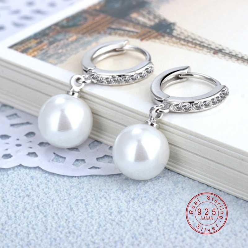 2019 Mutiara Anting-Anting Asli Mutiara Air Tawar Alami Perak Anting-Anting Mutiara Perhiasan untuk Wemon Pernikahan Ibu Hadiah