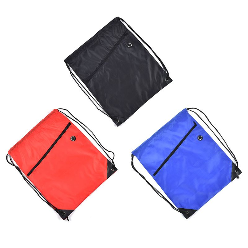 Mini Waterproof String Drawstring Shoe Bag Pack Storage With Earphone Hole Gym Tote School Pouch Outdoor Travel Duffle