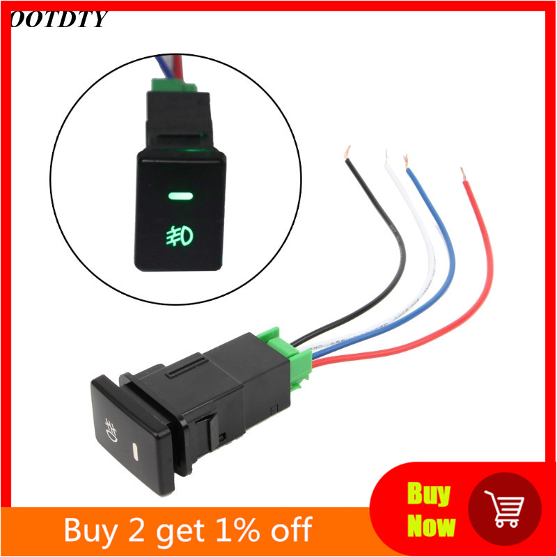 DC12V Front Fog light Push Switch 4 Wire Button For Toyota Camry Prius Corolla Car Accessories