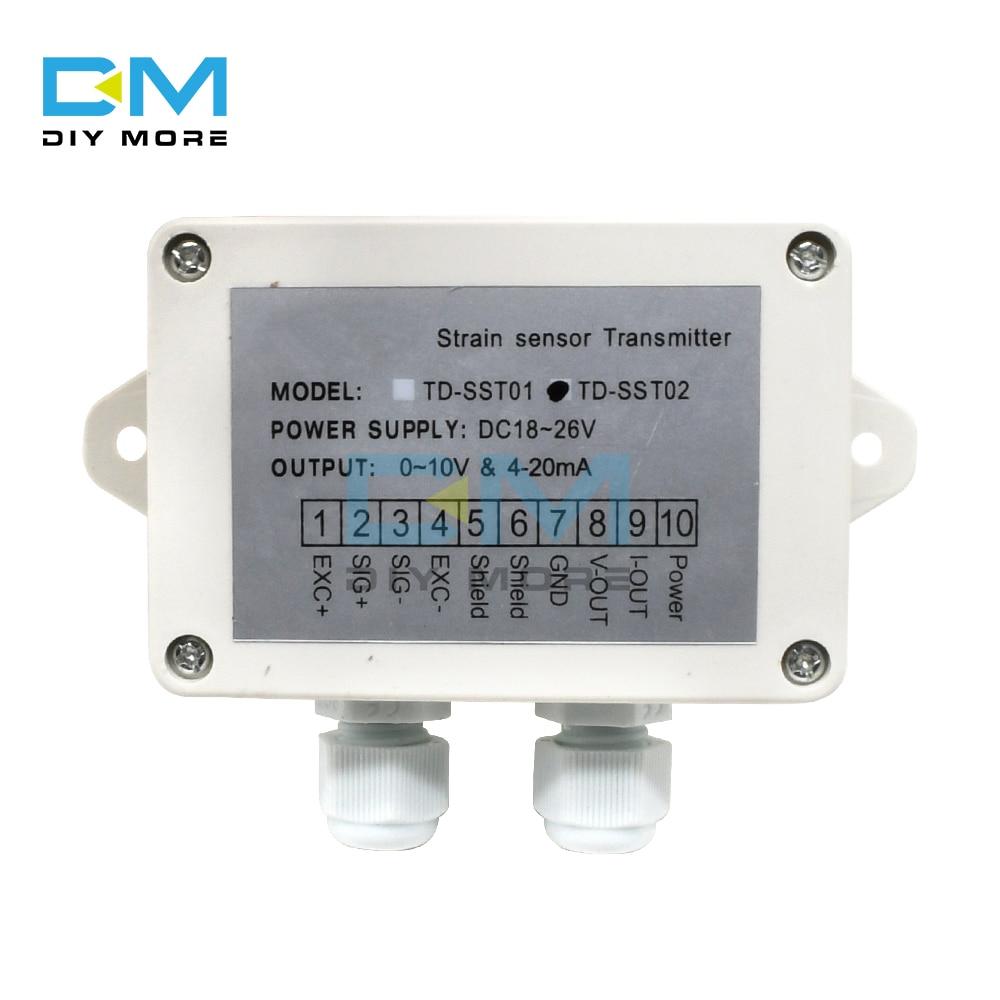 Усилитель тензодатчика 0-5 в 0-10 В 4-20мА тензодатчик усилитель взвешивания Trasmitter датчик модуль датчика