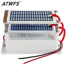 ATWFS-generador de ozono purificador de aire, máquina ozonizadora, limpiador doméstico, esterilizador, elimina el formaldehído, 220V, 60g/48g/36g/28g