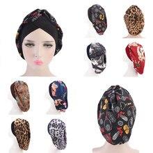 Крест Turbantes эластичной резиновой лентой головной убор головной убор обруч шляпа складной женщины свободного покроя хлопок печать мусульманский шарф Исламский внутренний колпачки