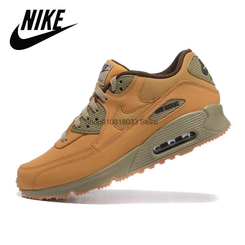 الأصلي نايك الهواء ماكس 90 بني فاتح أصفر الرجال في الهواء الطلق أحذية رياضية أحذية للمشي 683282 700 حجم 40 45|الاحذية| - AliExpress