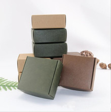 100pcs Mini soap boxes packaging Kraft Paper Gift Box Green White Black Color Jewelry Small Candy