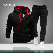 New Men Tracksuits Hooded Sportswear Spring Autumn Mens Casual Sets Hoodies+Pants Tracksuit Male Gyms Sweatshirt Two Piece Set cheap MANTORS CN(Origin) Daily Polyester Spring and Autumn O-Neck Elastic Waist zipper Full men tracksuit cotton men tracksuit sport suits vetement homme
