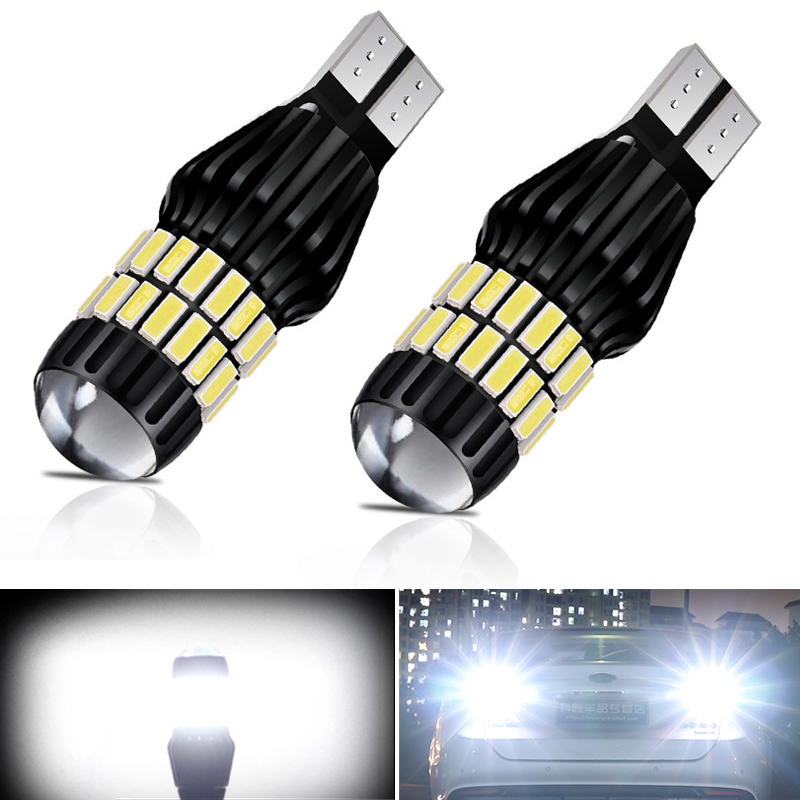 2X 2000Lm W16W T15 LED Bulbs Canbus OBC Error Free Backup Reverse Light For Skoda Octavia A5 A7 2 1 Peugeot 307 206 308 407 3008