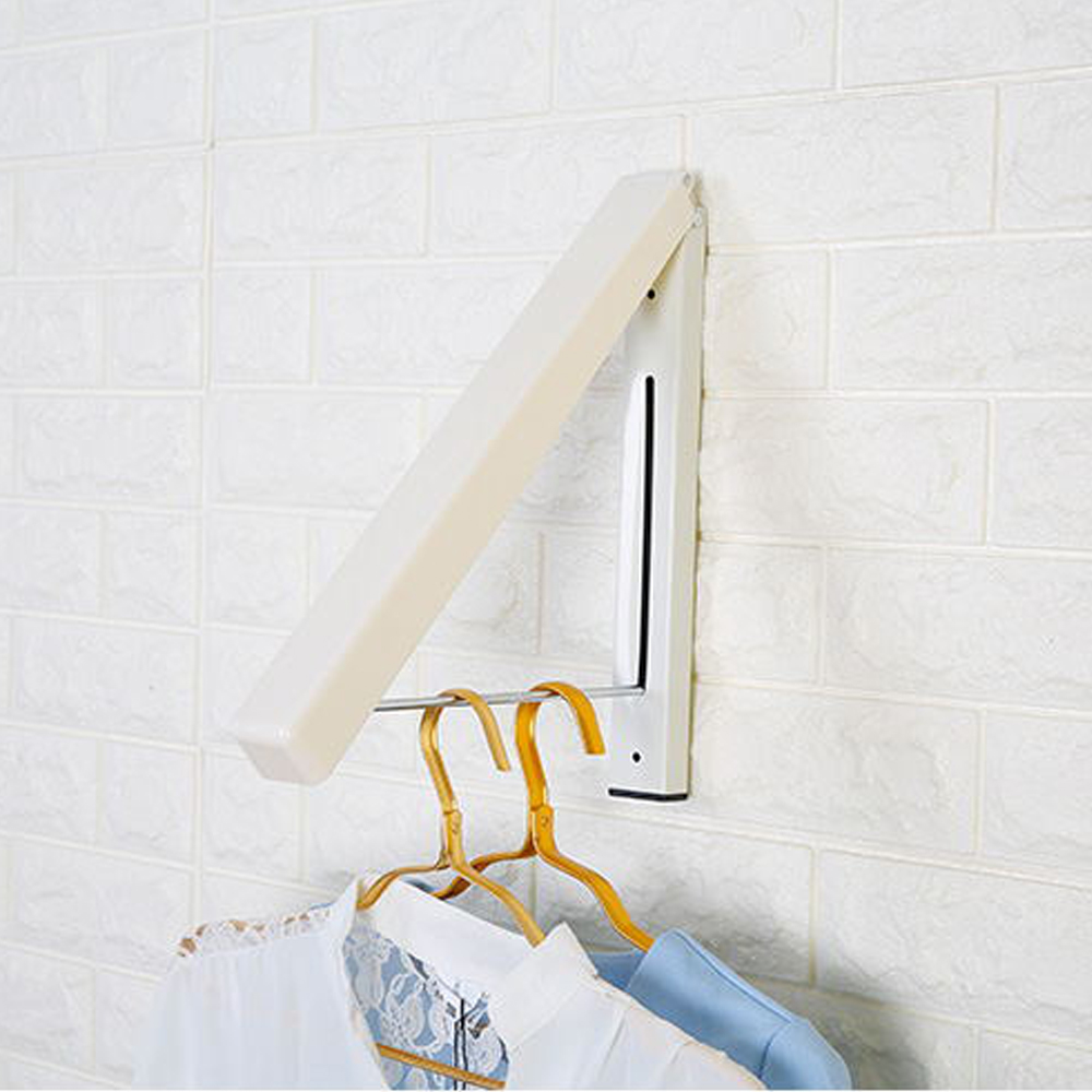 Stainless Steel Wall Hanger Retractable Indoor Clothes Hanger Magic Foldable Drying Rack Waterproof Clothes Towel Rack Folding