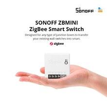 جديد SONOFF ZBMINI Zigbee 3.0 مفتاح ذكي ثنائي الاتجاه مفتاح مؤقت يعمل مع SmartThings Alexa Google Home e WeLink