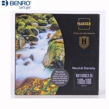 Benro MasterH ND16 ND64 ND256 ND1000 100x100 مللي متر إدراج محايد الكثافة مربع تصفية 100 مللي متر ماستر تصلب