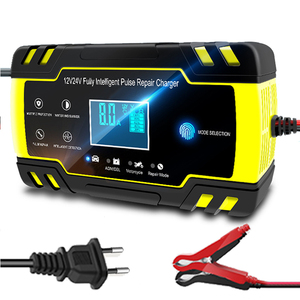 12V-24V 8A Full Automatic Car Battery Charger Power Pulse Repair Chargers Wet Dry Lead Acid Battery-chargers Digital LCD Display