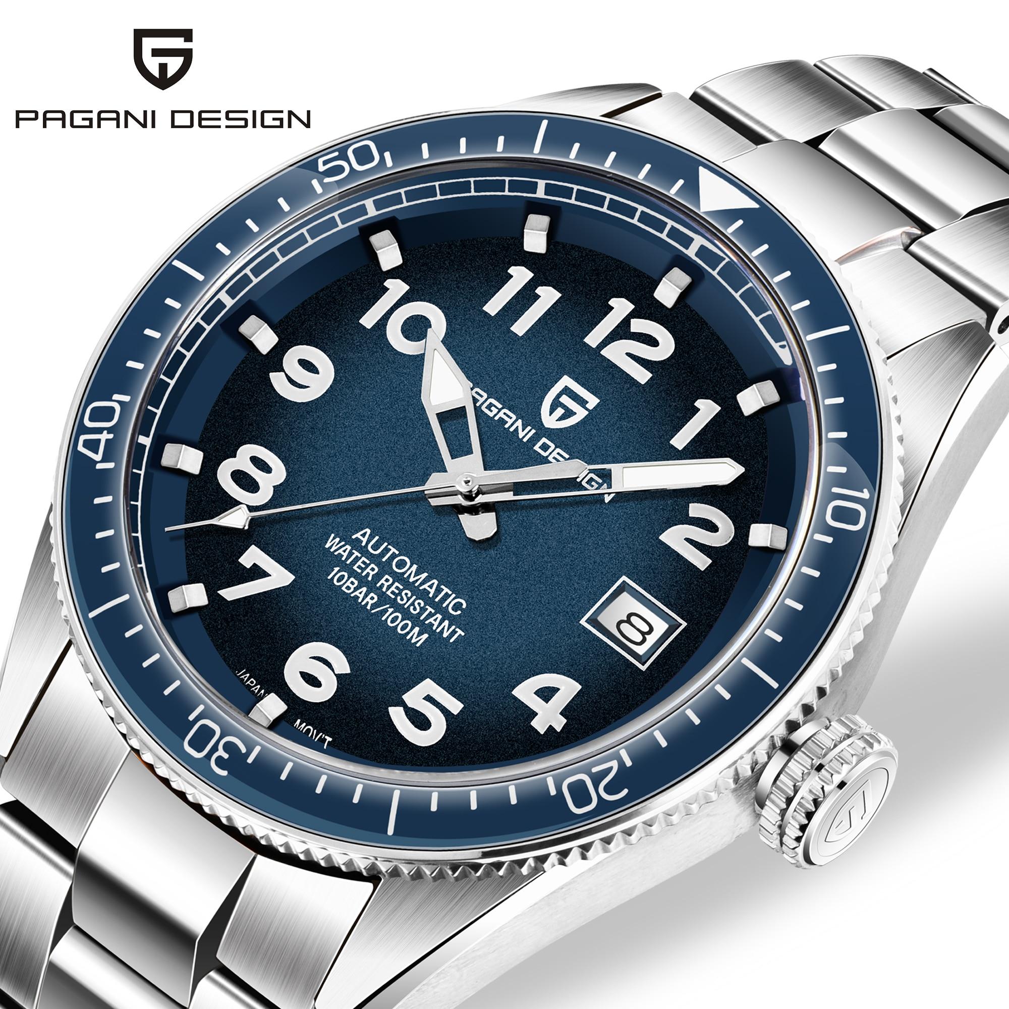 Waterproof Watch Mechanical-Watch Pagani-Design Automatic Business Men Brand Luxury Relojes