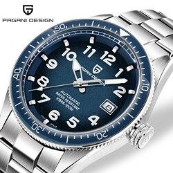 PAGANI تصميم ساعات رجالية العلامة التجارية الفاخرة ساعة اليد التلقائي الميكانيكية ساعة رجال الأعمال مقاوم للماء Relojes Hombre 2019