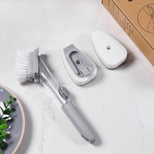 Kitchen Cleaning Brush Automatic Fluid-adding Cooker Long Handle Sponge  Contains No Oil