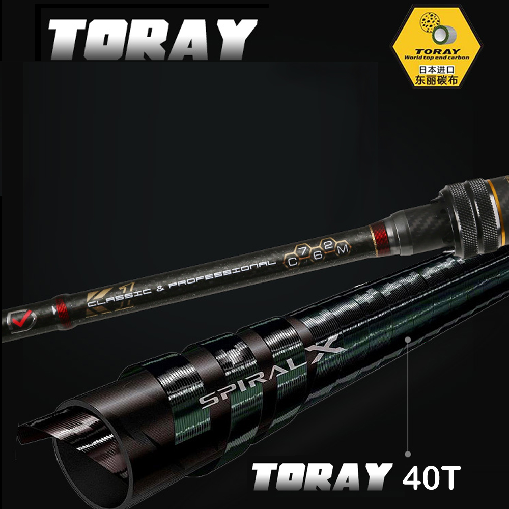 Fuji Rings Spinning Rod 1.8m1.98m L UL ML Ultralight Carbon Spinning Casting Fishing Rod For 2 Sections Fishing Rod High Quality