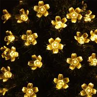 MeterMall 7M 50 LEDs Waterproof Cherry Blossoms String Light Solar Powered Fairy Lights for Outdoor Garden Patio