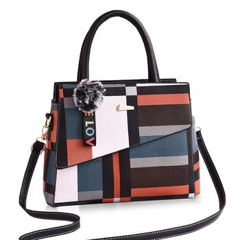 Women Handbag Fashion Women Bag PU Leather Tote Bag Ladies Designer Patchwork Handbags Female Casual Large Shoulder
