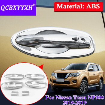 QCBXYYXH 8PCS Car Styling Car Door Handle Bowl Frame Cover For Nissan Terra Navara NP300 2018 2019 External Sequins Accessories image