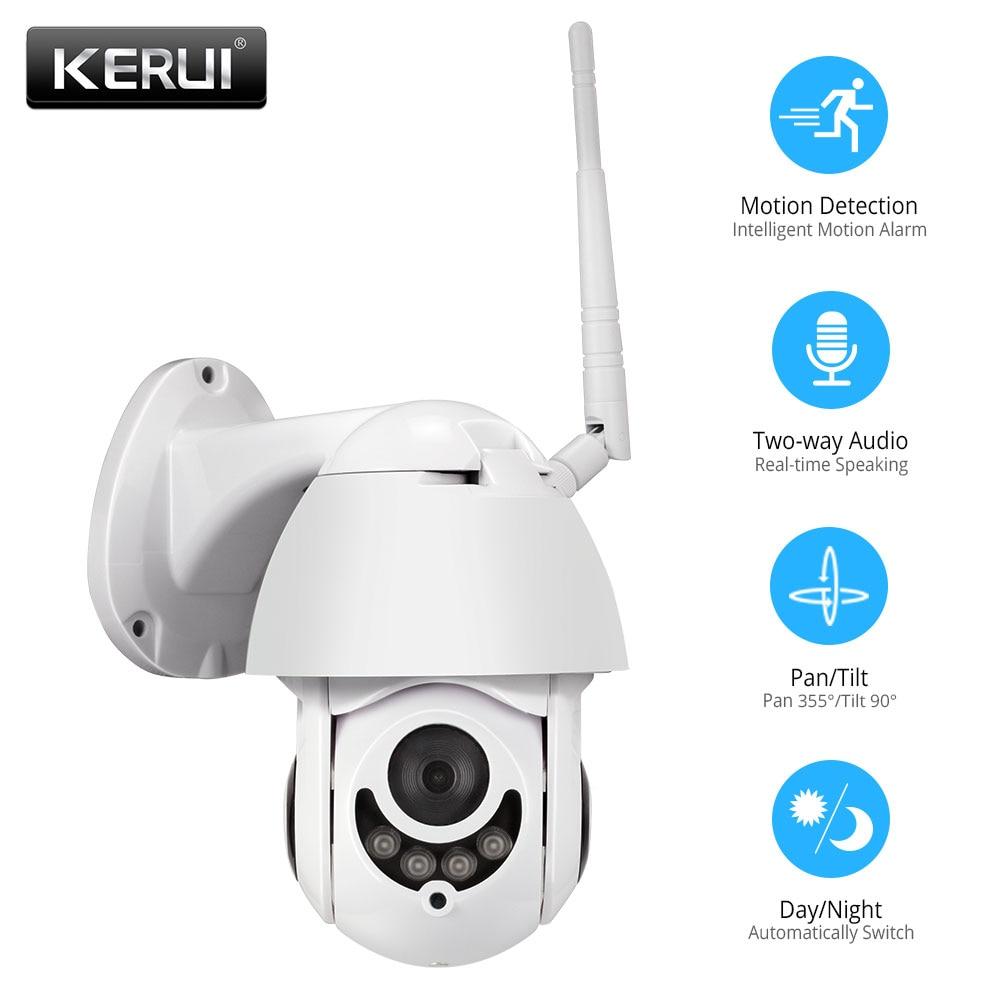 KERUI Waterproof Wireless H.264+ 1080P 2MP Outdoor WiFi PTZ IP Camera Speed Dome Camera IR Home Security CCTV Surveillance