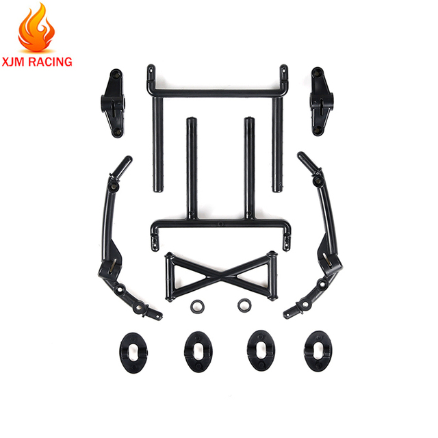 Front and Rear Car Body Mount Support Bracket Set for 1/5 HPI ROFUN BAHA KM ROVAN BAJA  5T 5SC Rc Car Racing Toys Parts