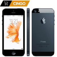 Original Apple iPhone 5 Unlocked cell phone 16&32&64GB Dual Core 1GHz 3G WIFI GPS 8MP 1080P 4.0 IPS Free Shipping