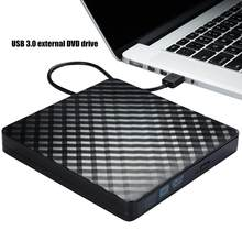 USB 3,0 внешняя DVD-горелка, записывающее устройство, портативный CD DVD /-RW оптический привод, записывающее устройство для Windows 10/8/7, ноутбука, насто...
