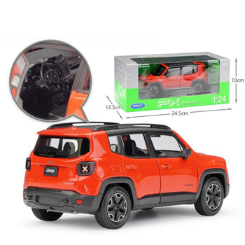 1/24 Scale 2015 Jeep Renegade Trailhawk City SUV JEEP Cross Country Car Vehicles Diecast Model Car Toy F Kids Gifts Collection image