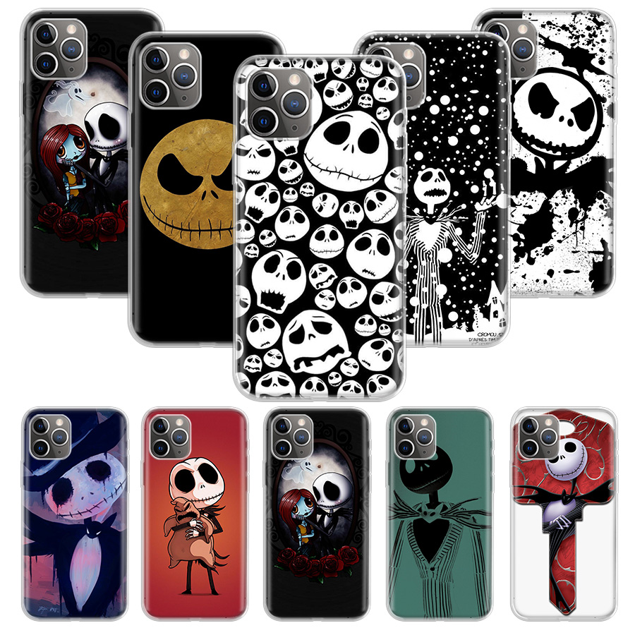 Hot jack skellington Case for Apple iphone 11 12 Mini Pro XS Max XR X 7 8 6 6S Plus 5 5S SE 10 Ten Gift Silicone Phone Coque Cov
