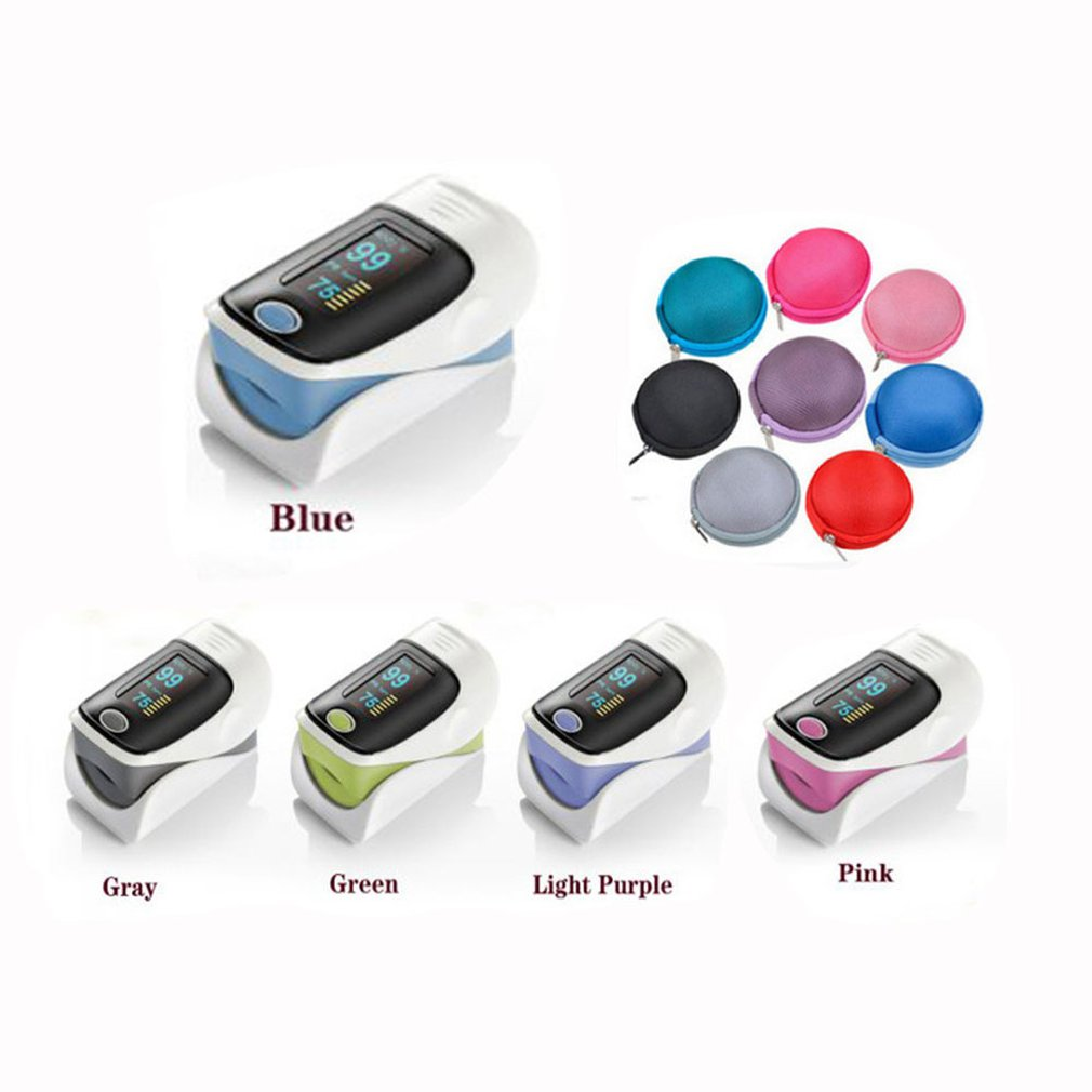 Pulse Oximeter Heart-Rate-Meter To Finger with Box Refers