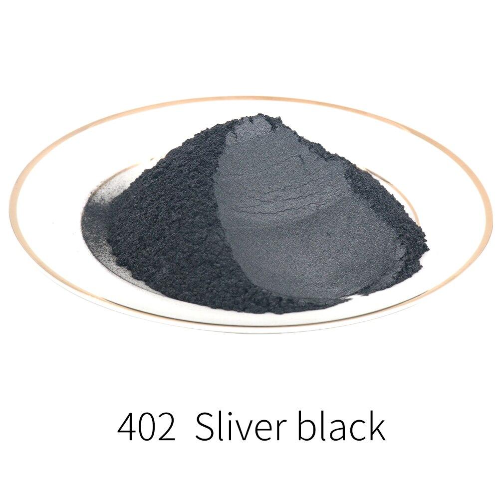 Sliver Black Mica Pigment Pearl Powder DIY Mineral Dye Colorant Dust YB402 For Soap Crafts Ceramic Colorant
