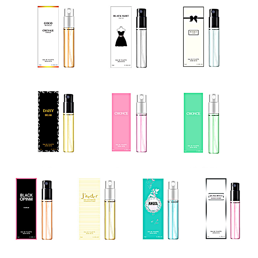JEAN MISS 3ml 10Styles Perfume Women Flower Fruits Fresh Elegant Long Lasting Fragrance Spray Glass Bottle Antiperspirant