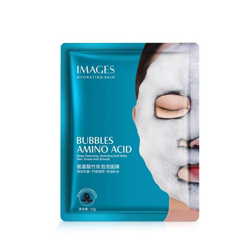 Oxygen Bubble Mask Korea Deep Cleaning Moisturizing Bamboo Charcoal Black Mask Facial Whitening Skin Care