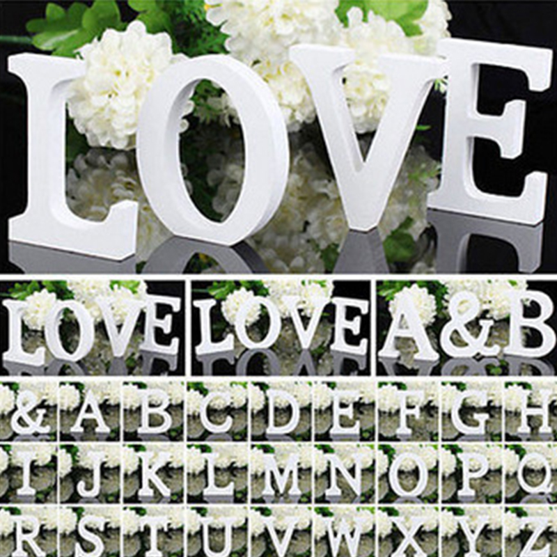 1pc Wooden Small Letter Alphabet Word Wood Letters For Kid's Boy Girls Baby Shower Birthday Wedding Party Decoration Supplies
