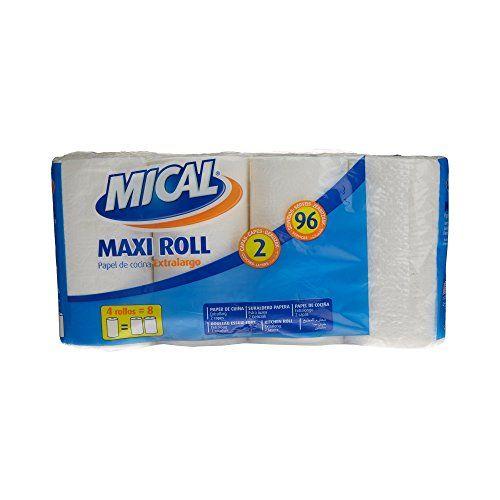 Mical–Maxi Roll–Rotolo Da Cucina Extra Largo, 2strati Doppi, 4pezzi