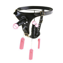 Chastity Pants Removable Strap-on Penis Vibration Sucker Harness Wearing Dildo Lesbian Couples Masturbator Sex Game Toy C3-2-39(China)