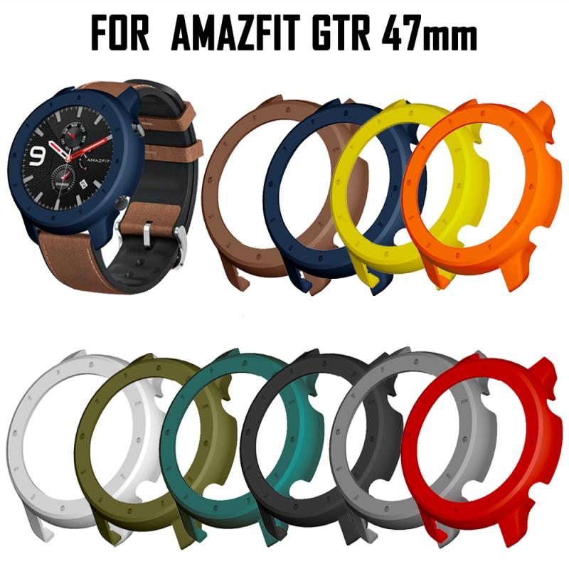 2020 Newest Cover For Huami AMAZFIT GTR Watch 47mm Bumper Plated TPU Smart Watch Accessories Protective Shell Case