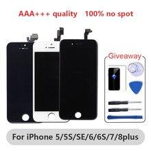 ЖК-дисплей класса AAAA для iphone 6, 6S, 6Plus, 6S Plus, 8, 7 Plus, с идеальным 3D сенсорным экраном, сменный ЖК-экран для iphone 5