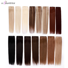 S-noilite 1шт In 5clips 100% 25 Human Hair Extensions Straight Brazilian Light Dark Brown +% 231B +% 234 +% 236 +% 23613 Blonde Non-Remy 40g-60g