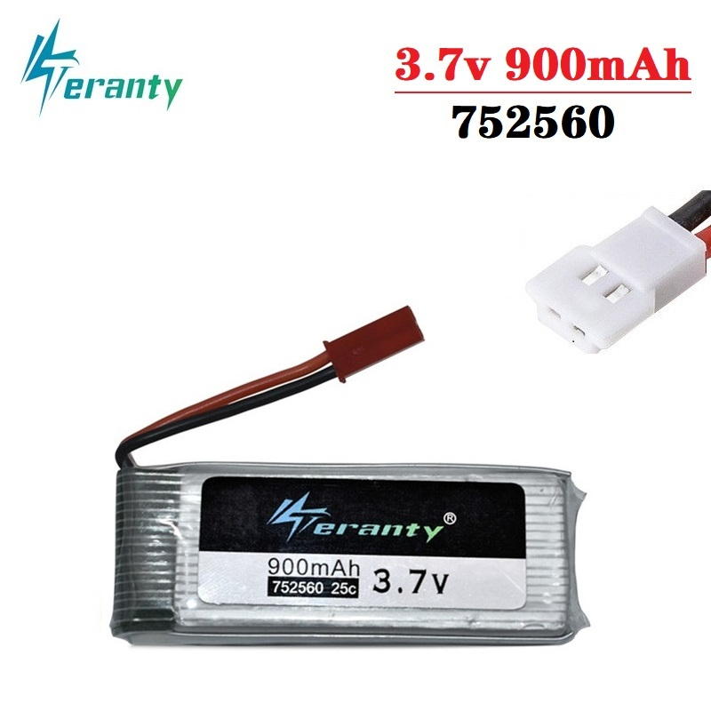 3.7V 900mah lipo Battery For X5 X5C X5SC 8807 8807W A6 A6W M68 Rc Quadcopter Spare Parts Accessories Drones battery <font><b>752560</b></font> 1Pcs image