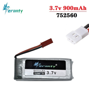 3.7V 900mah lipo Battery For X5 X5C X5SC 8807 8807W A6 A6W M68 Rc Quadcopter Spare Parts Accessories Drones battery 752560 1Pcs image