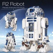 Lepining 05043 Star Movie Wars espacio fuera de impresión el Robot de R2 D2 bloques juguetes compatibles lepinblocks 10225