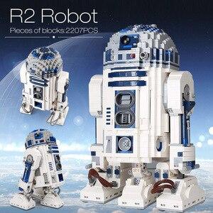 Image 1 - Lepining 05043 Star Movie Wars espacio fuera de impresión el Robot de R2 D2 bloques juguetes compatibles lepinblocks 10225